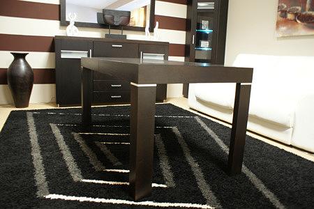 monaco stół bukowy okleinowany wstawki metalowe