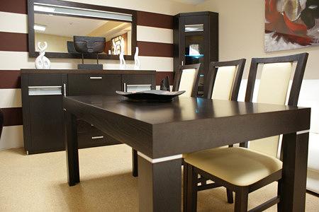 monaco stół okleina dębowa białe krzesła