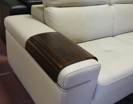 Nakładka na bok sofy drewniana segmentowa
