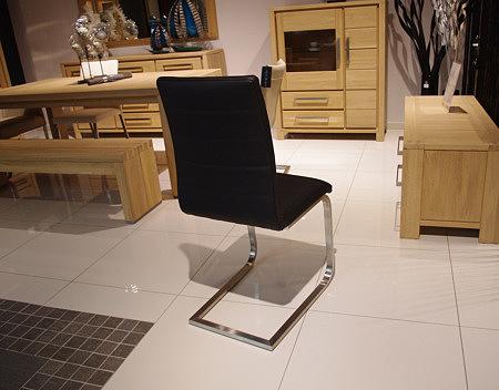Nuvo krzesło na metalowych nogach