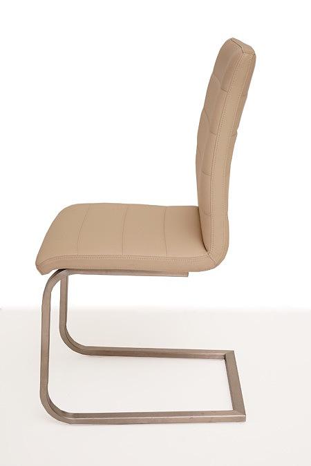 Nuvo nowoczesne krzeslo do jadalni metalowe nogi oparcie skóra
