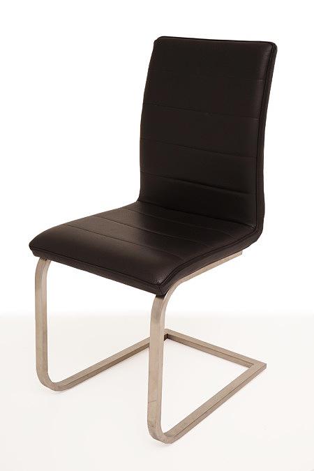 Nuvo nowoczesne krzesło metalowe skórzane do salonu