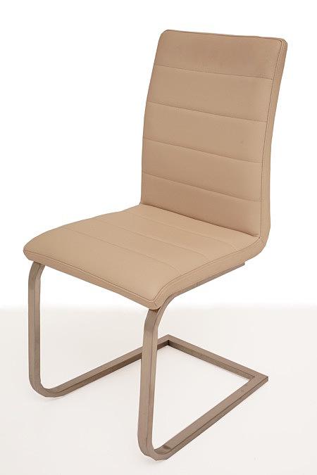 Nuvo skórzane metalowe nowoczesne krzesło do jadalni