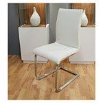 nuvola krzesło na metalowych płozach skórzane białe