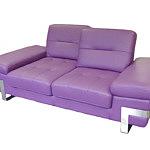 Olivier nowoczesna sofa z elementami metalowymi fioletowa