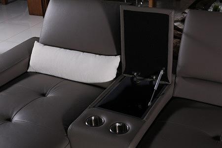 onex sofa z barkiem i uchwytami na napoje