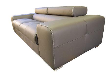 oxford sofa skórzana szycie grubymi nićmi