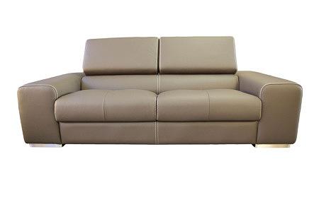 oxford sofa skórzana z regulowanymi zagłówkami