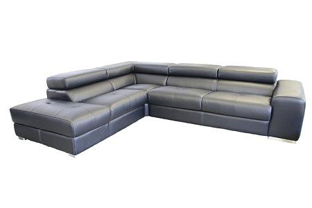 oxford wypoczynek skórzany czarny do salonu
