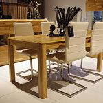 palermo stół dębowy białe krzesła nowoczesne