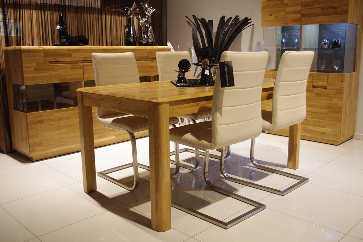 Groovy PALERMO - stół dębowy rozkładany, stół z litego drewna dębowego YC56