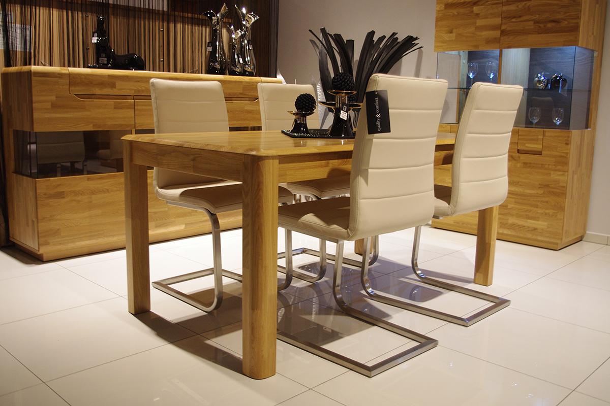Palermo Stół Dębowy Rozkładany Stół Z Litego Drewna Dębowego