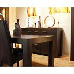 pamir krzesło z brązowej skóry stół