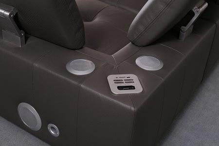 passione sofa audio system