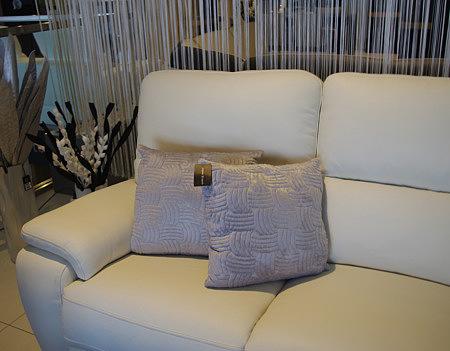 Poduszka fioletowo-szara