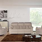 premium komplet wypoczynkowy sofa i fotele skórzane