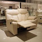 premium sofa skórzana dwuosobowa z funkcją relax