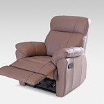 Relax3 - fotel do salonu z funkcją relax, elegancki fotel skórzany klasy premium, skóra naturalna brązowa