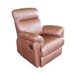 Fotel skórzany do salonu, brązowa skóra naturalna