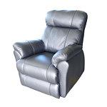 Relax3 fotel skórzany szary
