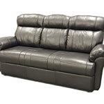 Elegancka trzyosobowa kanapa skórzana czarna, wykonana ze skóry naturalnej