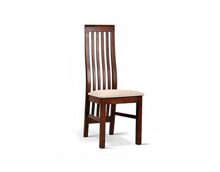 Rico krzesło drewniane ażurowe oparcie brązowe siedzisko beżowe