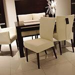 Romus krzesła beżowa skóra