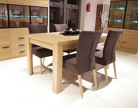 romus krzesło drewniane tapicerka skórzana