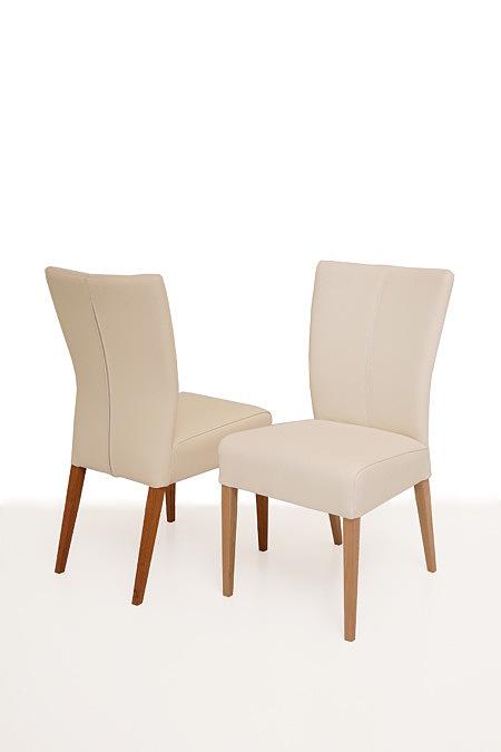 Roums białe skórzane krzesło do jadalni nwoczesnego salonu
