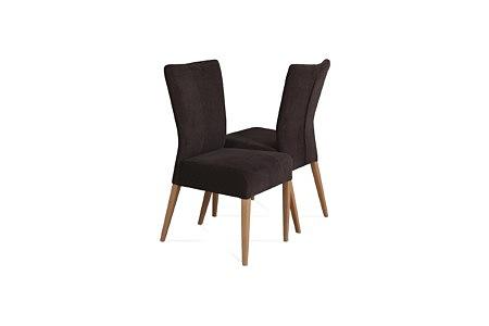 Roums czarne krzesło skórzane do nowoczesnego salonu noga buk