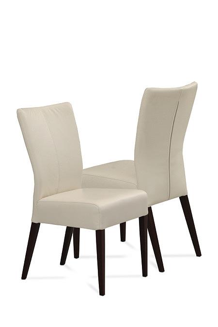 Roums nowoczesne krzesła do salonu jadalni białe czarne nogi