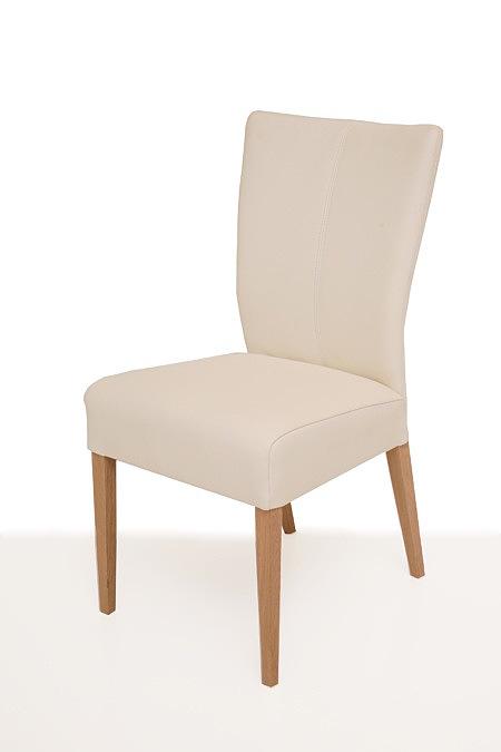Roums skórzane krzesło drewniane bukowe nogi pełne oparcie