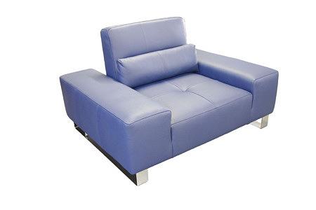 royal fioletowy fotel skórzany