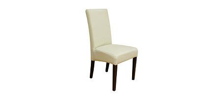 sandra białe klasyczne nowoczesne krzesło skórzane
