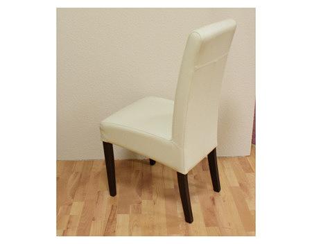 sandra krzesło drewniane dębowe beżowa skóra