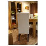 sandra krzesło skórzane obicie jednolite białe