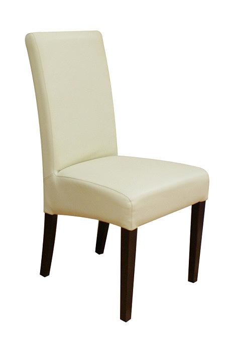 Sandra krzesło z drewna bukowego skórzane obicie