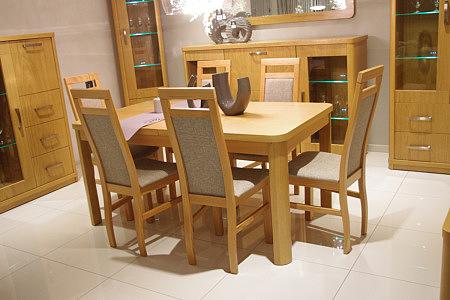 sara masywny stół do salonu zaokrąglone brzegi
