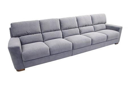 Sara1 duża szara sofa pięcioosobowa tkanina carabu