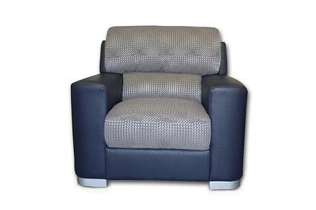 sara1 fotel skórzany połączenie z tkaniną