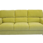 sara1 zielona żółta sofa trzyosobowa tkanina carabu
