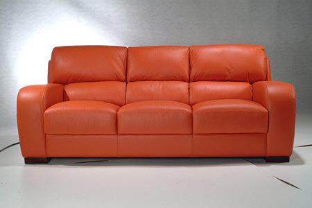 sara2 sofa skórzana czerwona trzyosobowa