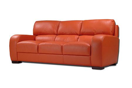 sara2 sofa trzyosobowa z czerwonej skóry