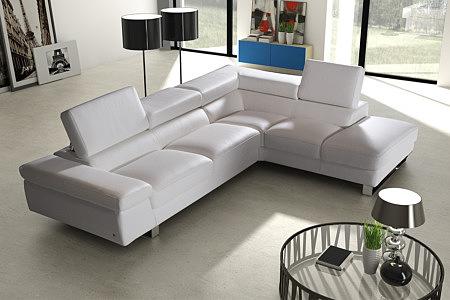 saturno wypoczynek skórzany narożnik nowoczesna sofa do salonu