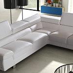 saturno wypoczynek skórzany narożnik sofa do salonu