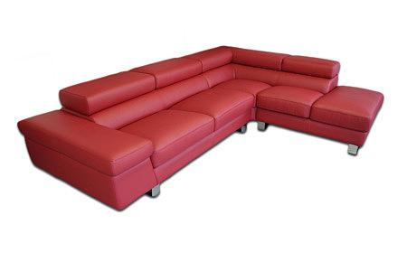 saturno wypoczynek skórzany sofa narożnik