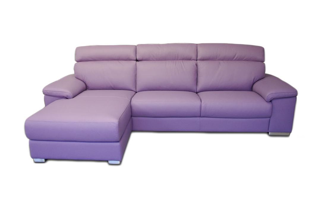 Savoy fioletowy nowoczesny narożnik skórzany