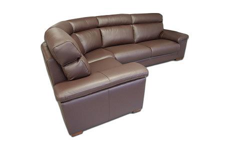 Savoy narożnik sofa z drewnianymi nogami
