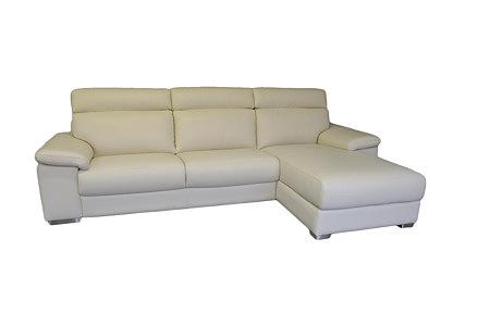 Savoy sofa biała skórzana
