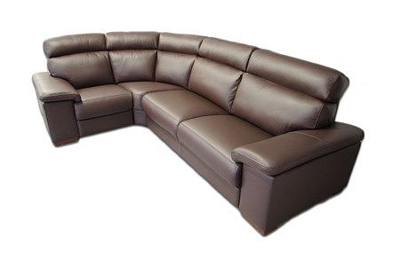 Savoy sofa z brązowej skóry